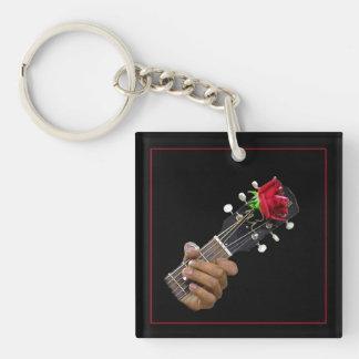 Blues Music, Good Feelin' Bad Single-Sided Square Acrylic Key Ring