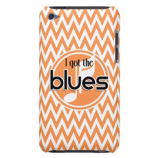 Blues Music Orange and White Chevron iPod Case-Mate Case