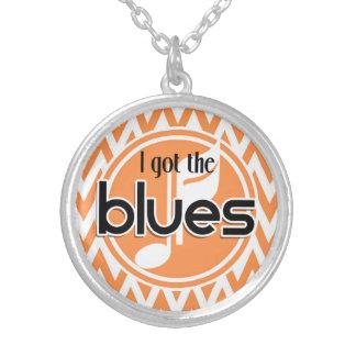 Blues Music Orange and White Chevron Custom Jewelry