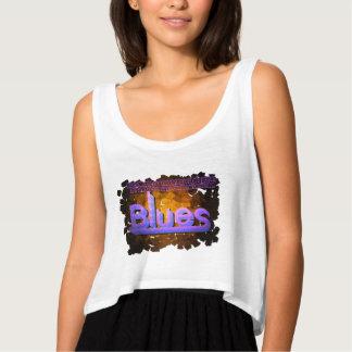 Blues Music Women's Tank White
