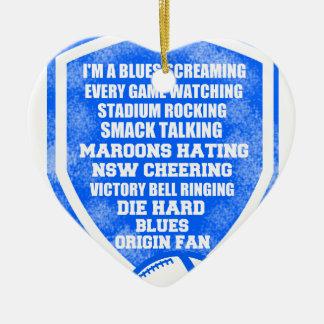 blues origin fan ceramic heart decoration