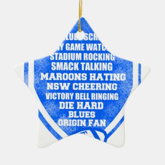 blues origin fan ceramic star decoration