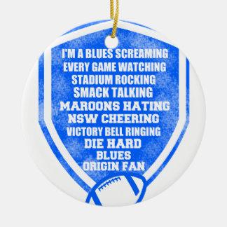 blues origin fan round ceramic decoration