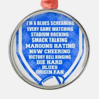 blues origin fan Silver-Colored round decoration