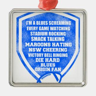 blues origin fan Silver-Colored square decoration