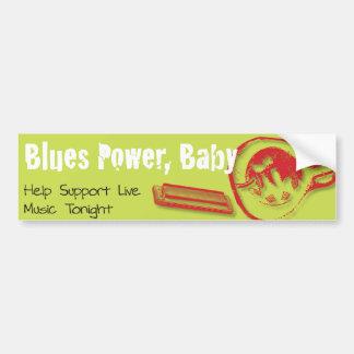 Blues Power, Baby! Car Bumper Sticker