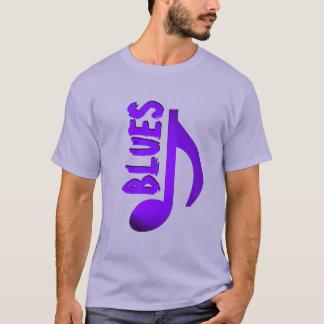 Blues Purple Blue Music Note T-Shirt
