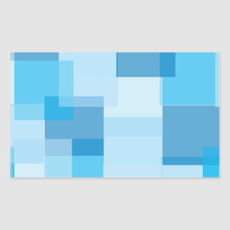 Blues Rectangular Sticker
