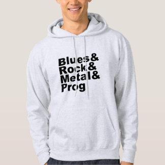 Blues&Rock&Metal&Prog (blk) Hoodie