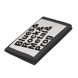 Blues&Rock&Metal&Prog (blk) Tri-fold Wallet