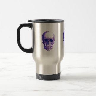Blues skull travel mug