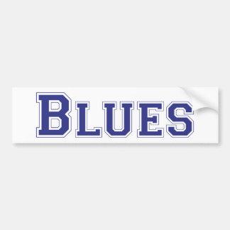 Blues square logo in blue bumper stickers
