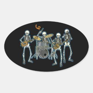 Blues To The Bone! Oval Sticker