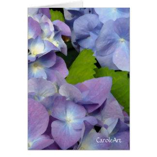 Bluest Blue Hydrangeas Greeting Card