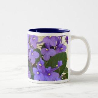 Bluest Blue Violets Coffee Mugs