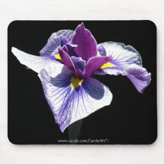 Bluest Purple Iris Mouse Pad