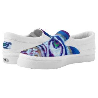 """Bluest Skies""original art byTquinnartist Slip On Shoes"
