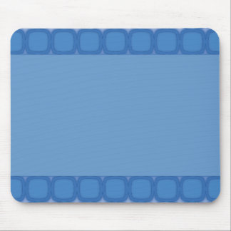 Bluesville Retro Rounded Squares Mouse Pad