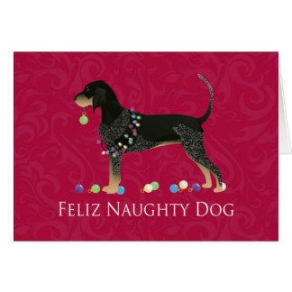 Bluetick Coonhound Christmas Card