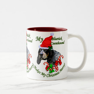 Bluetick Coonhound Christmas Gifts Two-Tone Coffee Mug