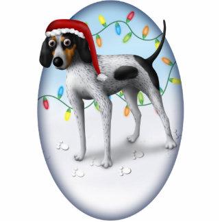 Bluetick Coonhound Christmas Ornament Photo Sculpture Decoration