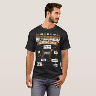 Bluetick Coonhound Dog Barking Logic Tshirt