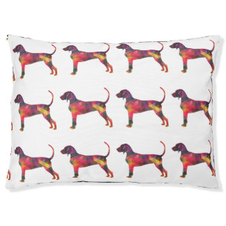 Bluetick Coonhound Dog Geometric Silhouette Pet Bed