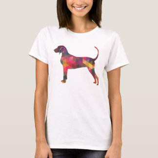 Bluetick Coonhound Dog Geometric Silhouette T-Shirt
