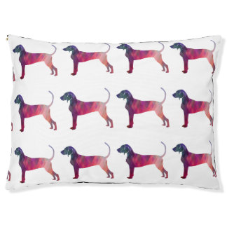 Bluetick Coonhound Geometric Pattern Silhouette Pet Bed