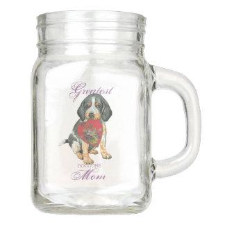 Bluetick Coonhound Hearts Mom Mason Jar