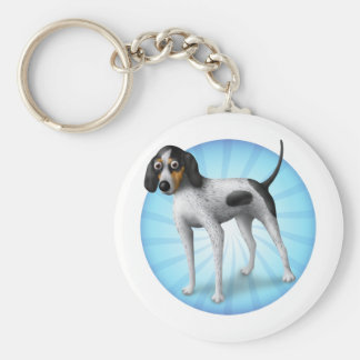 bluetick coonhound key ring