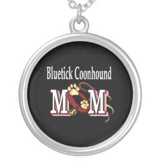 Bluetick Coonhound Mom Silver Plated Necklace