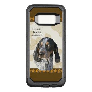 Bluetick Coonhound on Tan Leaves w-Brn Pawprints OtterBox Commuter Samsung Galaxy S8 Case
