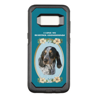 Bluetick Coonhound on Teal Floral OtterBox Commuter Samsung Galaxy S8 Case