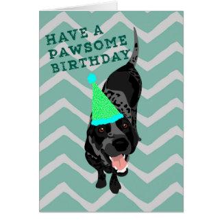 Bluetick Coonhound Pawsome Birthday Card