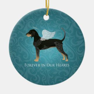 Bluetick Coonhound Pet Memorial Angel Dog Ceramic Ornament