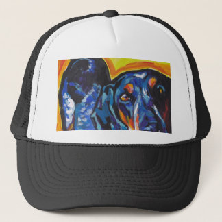 Bluetick Coonhound Pop Art Trucker Hat