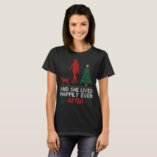 Bluetick Coonhound She Lived Happily Ever Ugly Tee