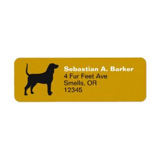 Bluetick Coonhound Silhouette Return Address Label