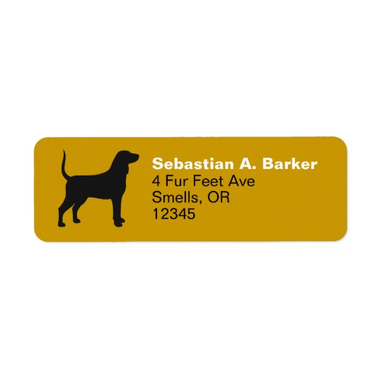 Bluetick Coonhound Silhouette Return Address Label