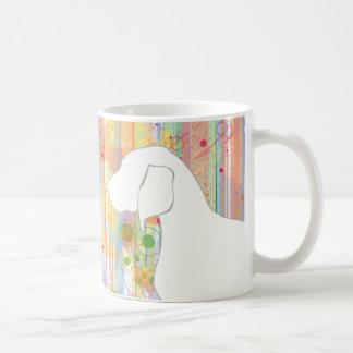 Bluetick Coonhound Watercolor Stripes Coffee Mug