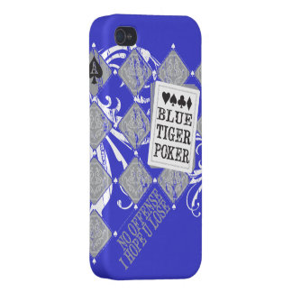 BlueTigerPoker Iphone Case iPhone 4 Cover
