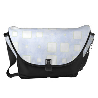 BlueTiled Block Mosaic Pattern Courier Bags