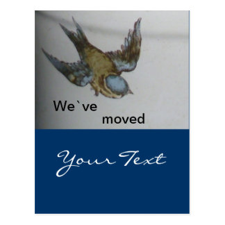 bluetit-wir sind umgezogen postcard
