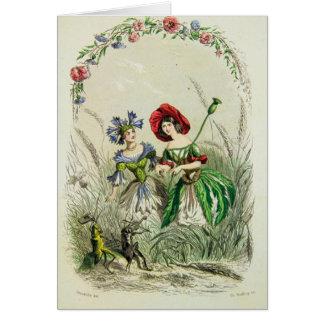 Bluets and Poppy Les Fleurs Card