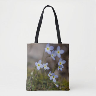 Bluets Little Purple Flowers Wildflower Tote Bag