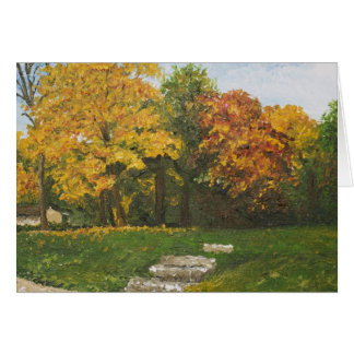 Bluffside in Autumn Greeting Card
