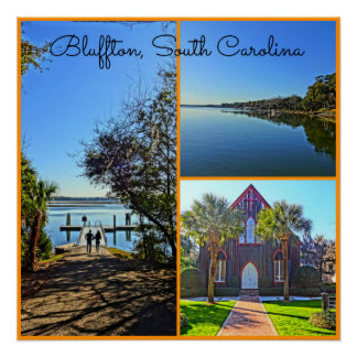 Bluffton South Carolina Lowcountry Collage