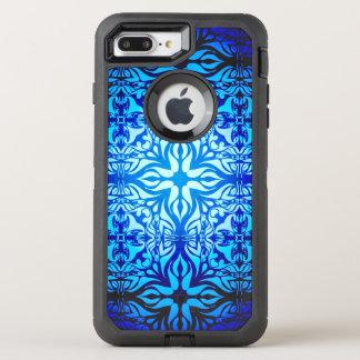 Bluish Celtic Pattern OtterBox Defender iPhone 8 Plus/7 Plus Case