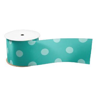 Bluish Green Polka Dot Ribbon Satin Ribbon